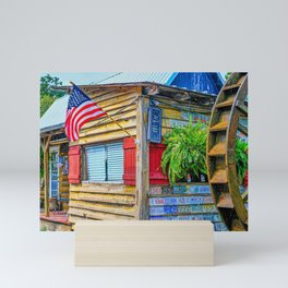 Flag Tags and Water Wheel Mini Art Print