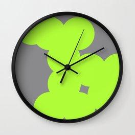 neon colour chain Wall Clock
