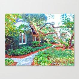 green sanctuary Canvas Print