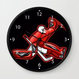 Ice hockey goalkeeper Wall Clock