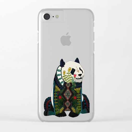 panda orange Clear iPhone Case
