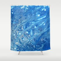 cloud Shower Curtains featuring Cloud by Justin Similey