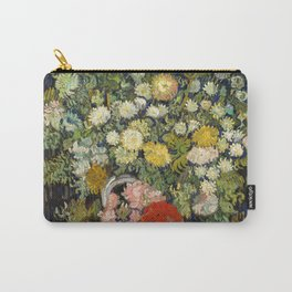 """Vincent Van Gogh """"Bouquet of Flowers in a Vase"""" Carry-All Pouch"""