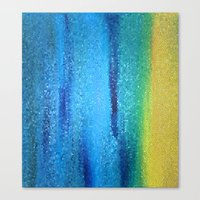 turquoise Canvas Prints featuring Turquoise by Ellie Rose Flynn