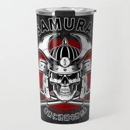 Bushido Samurai Skull Travel Mug