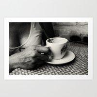 coffe Art Prints featuring Coffe Time by unaciertamirada