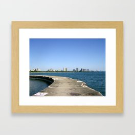 Lake Shores of Chicago Framed Art Print