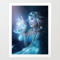 elsa Art Prints featuring Elsa by Alexandra V Bach
