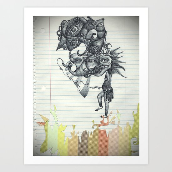 Hombre Simple Art Print
