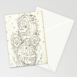 2 Headed Muerte  Stationery Cards