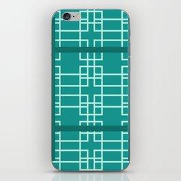Midcentury Modern Geometric Turquoise iPhone Skin