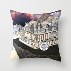 Animals on a Wagon Throw Pillow