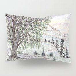 The Lone Willow Pillow Sham