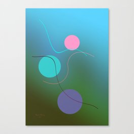 The 3 dots, power game 3 Canvas Print