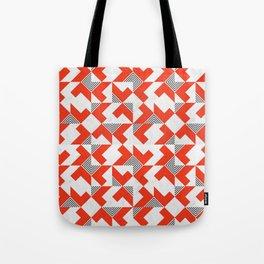 Marble Red Blocks Tote Bag