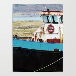 Rusted ship Poster