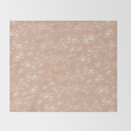 Pohutukawa flowers beige Throw Blanket