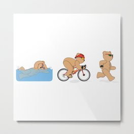 Grumpy Teds Triathlon Metal Print