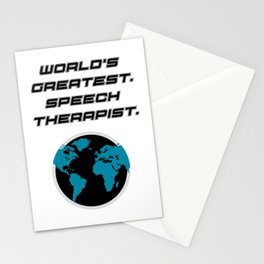 Speech Teacher Gifts Speech Therapy Stationery Cards