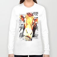 bull Long Sleeve T-shirts featuring Bull by TexasDesignsByAmy