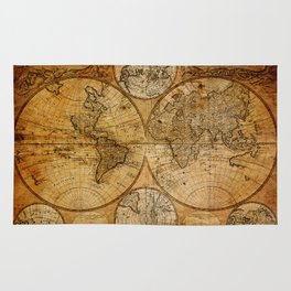 Vintage Map Rug