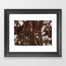 Forest weaving Framed Art Print