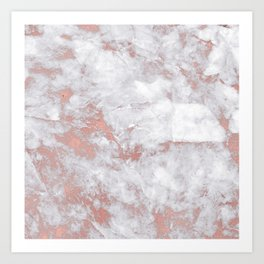 Marble Rose Gold - Lost Art Print