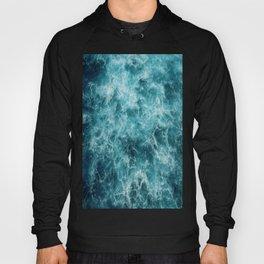 Blue Ocean Waves Hoody