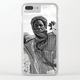 Touareg villager- Timbuktu, Africa Clear iPhone Case