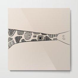 Sleeping Giraffe! Metal Print