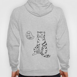 Cat with coffee Hoody