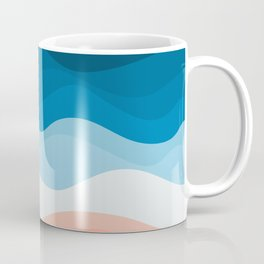Lone Surfer On The Beach Coffee Mug
