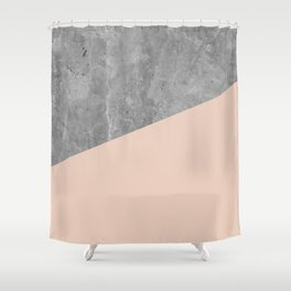 Simply Concrete Blush Pink Shower Curtain