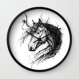 Shaggy Unicorn Wall Clock