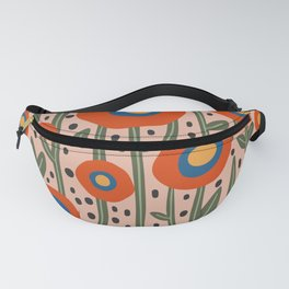 Flower Market Amsterdam, Abstract Modern Floral Print Fanny Pack