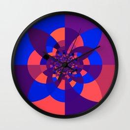Kaleidoscope Purple Melon Cobalt Blue Wall Clock
