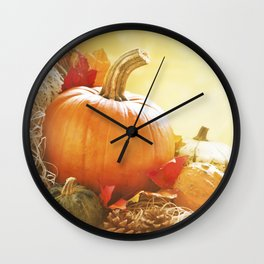 II - Autumn still life in bright sunlight Wall Clock