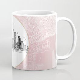 Boston, Massachusetts City Skyline Illustration Drawing Coffee Mug