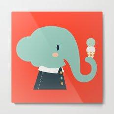 Mister Elephant Metal Print