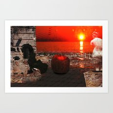 the apple that launched the thousand ships: the story of Troy Art Print