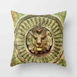 Mausoleum Lion Throw Pillow