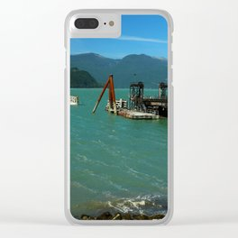 Old Old Pier Near Sea to Sky Highway Clear iPhone Case