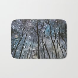 The Woods at Midnight Bath Mat