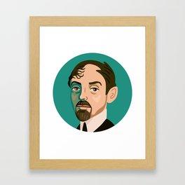 Queer Portrait - Mikhail Kuzmin Framed Art Print