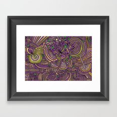 Drawing Meditation - Lilac Framed Art Print