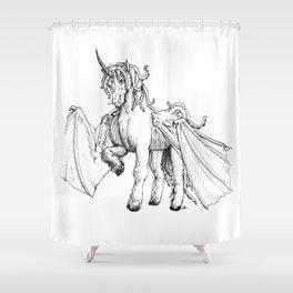 Dragonicorn Shower Curtain