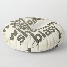 Shotgun Blast Floor Pillow