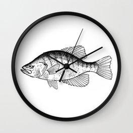 White Crappie Wall Clock