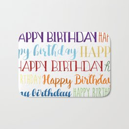 Happy Birthday | Fun & Bright Bath Mat