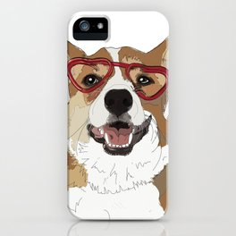 Happy Valentine's Day Corgi iPhone Case